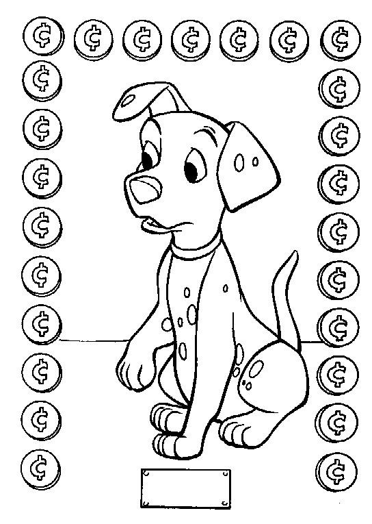 Coloriage le chien dalmatien dessin gratuit imprimer - Coloriage dalmatien ...