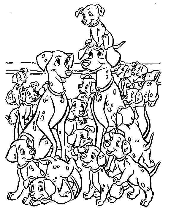 Coloriage les 101 dalmatiens 2 gratuit imprimer en ligne - 101 dalmatiens dessin ...