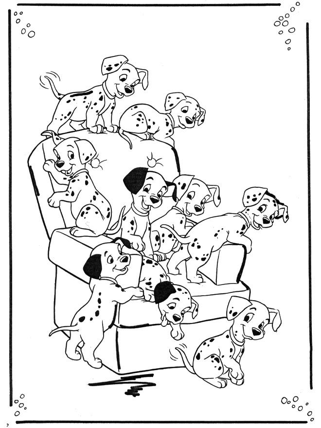 Coloriage et dessins gratuits Les chiens  dalmatiens à imprimer