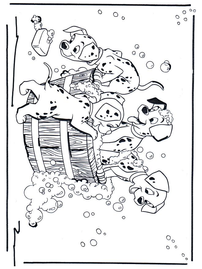 Coloriage Les Dalmatiens Se Lavent Dessin Gratuit 224 Imprimer