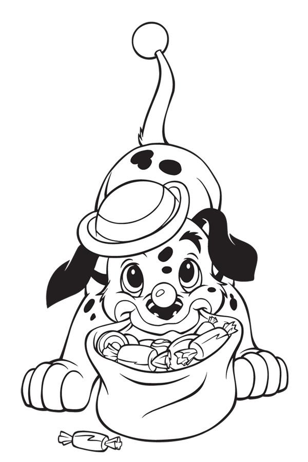Coloriage et dessins gratuits Lucky est un clown à imprimer