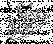 Coloriage et dessins gratuit Lucky fait du ski à imprimer