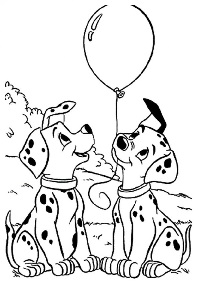 Coloriage et dessins gratuits Penny et Patch tiennent un ballon à imprimer