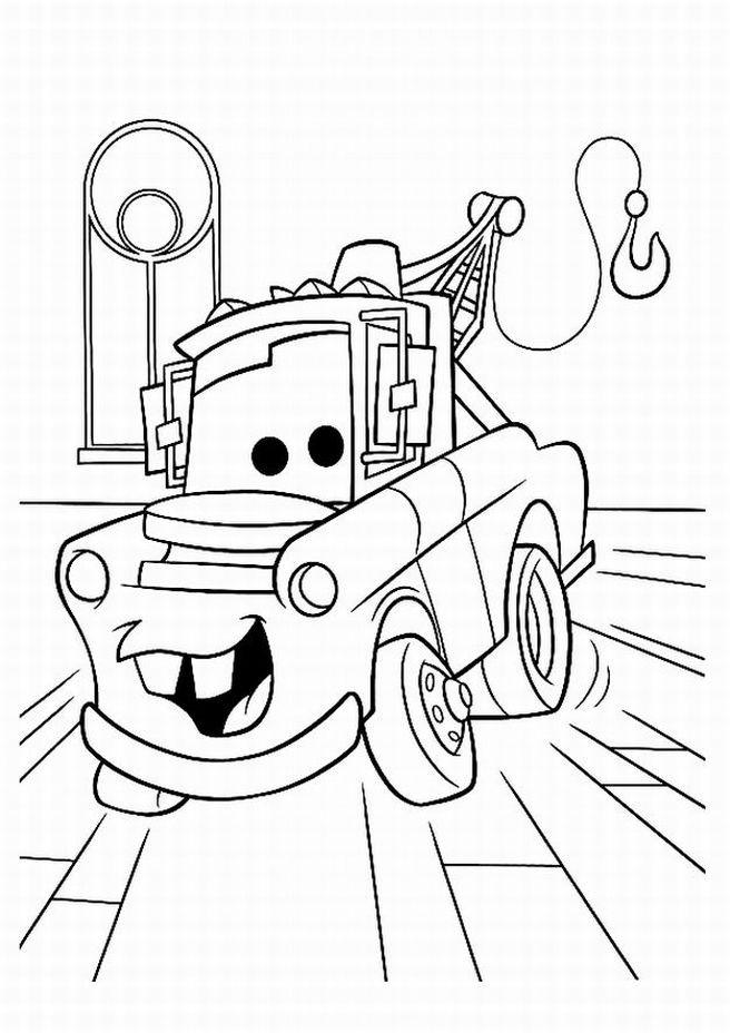 Coloriage et dessins gratuits Bagnole Cartoon à imprimer