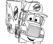 Coloriage et dessins gratuit Camion Mack dessin animé à imprimer