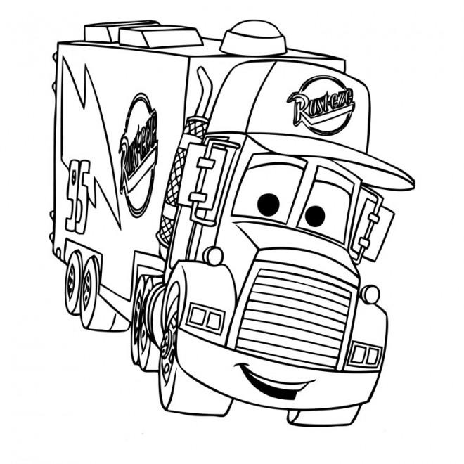 Coloriage et dessins gratuits Camion Mack dessin animé à imprimer