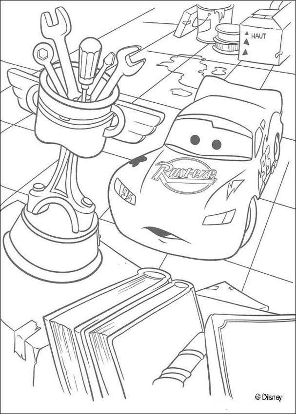 Coloriage et dessins gratuits Flash admire son trophée à imprimer
