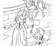 Coloriage Maximus avec Raiponce
