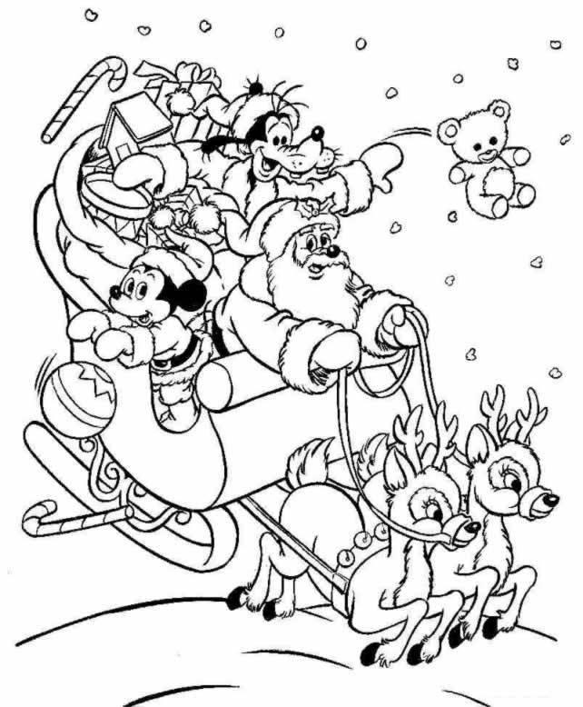 Coloriage et dessins gratuits Mickey bébé en Noël à imprimer