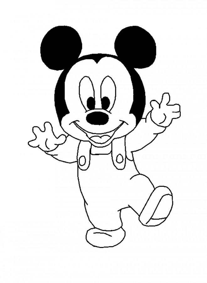Coloriage Mickey Bébé Dessin Gratuit à Imprimer