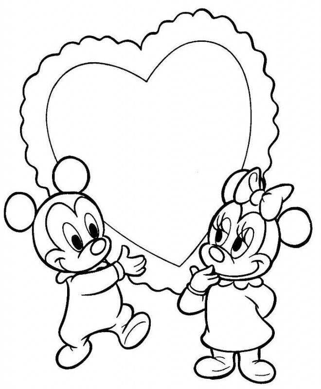 Coloriage mickey b b et minnie b b - Photo minnie et mickey bebe ...