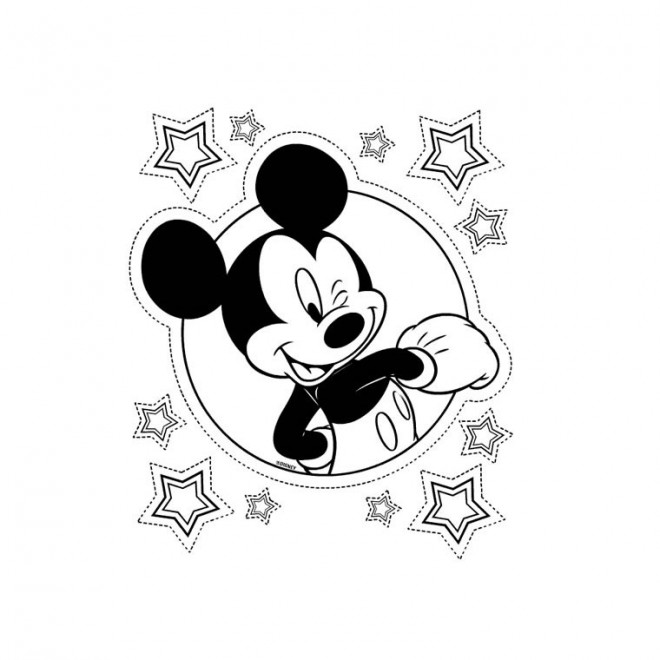 Coloriage et dessins gratuits Mickey simple à imprimer