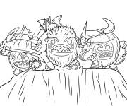 Coloriage et dessins gratuit La tribu pirates des Kakamoras dans Viana à imprimer