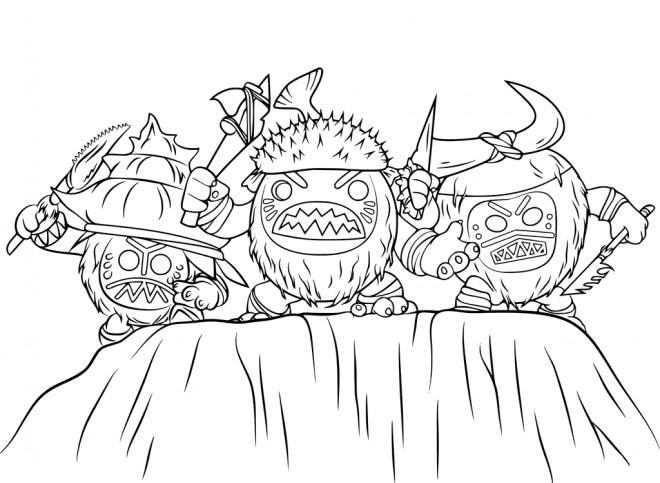 Coloriage et dessins gratuits La tribu pirates des Kakamoras dans Viana à imprimer