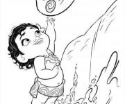 Coloriage et dessins gratuit Moana bébé à imprimer