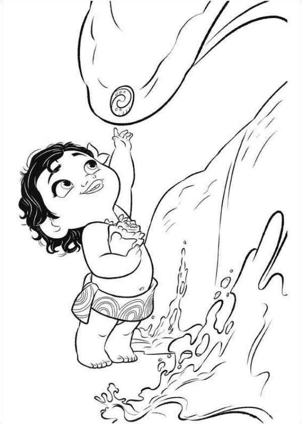 Coloriage et dessins gratuits Moana bébé à imprimer