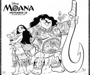 Coloriage Moana Disney le film