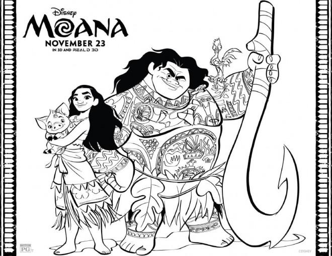 Coloriage et dessins gratuits Moana Disney le film à imprimer