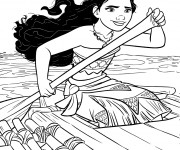 Coloriage et dessins gratuit Moana l'exploratrice à imprimer