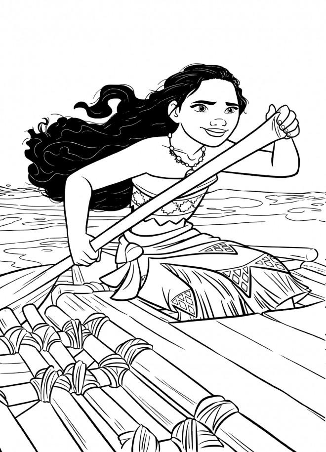 Coloriage et dessins gratuits Moana l'exploratrice à imprimer