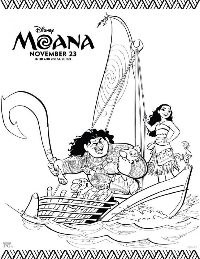 Coloriage et dessins gratuits Moana la légende du bout du monde à imprimer