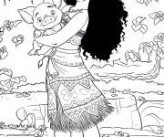 Coloriage et dessins gratuit Moana Viana 1 à imprimer
