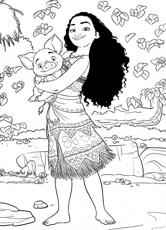 Coloriage et dessins gratuits Moana Viana 1 à imprimer