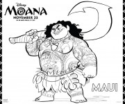 Coloriage et dessins gratuit Moana Viana 13 à imprimer