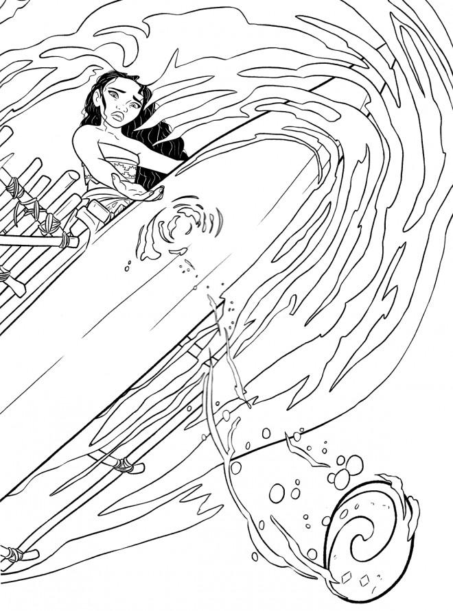 Coloriage et dessins gratuits Viana la légende du bout du monde à imprimer