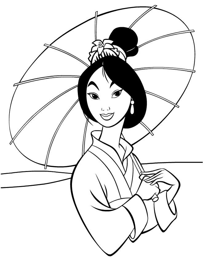 Coloriage et dessins gratuits Fa Mulan à imprimer