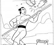 Coloriage et dessins gratuit Général Shang à imprimer