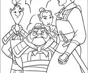 Coloriage Général Shang entraîne les soldats