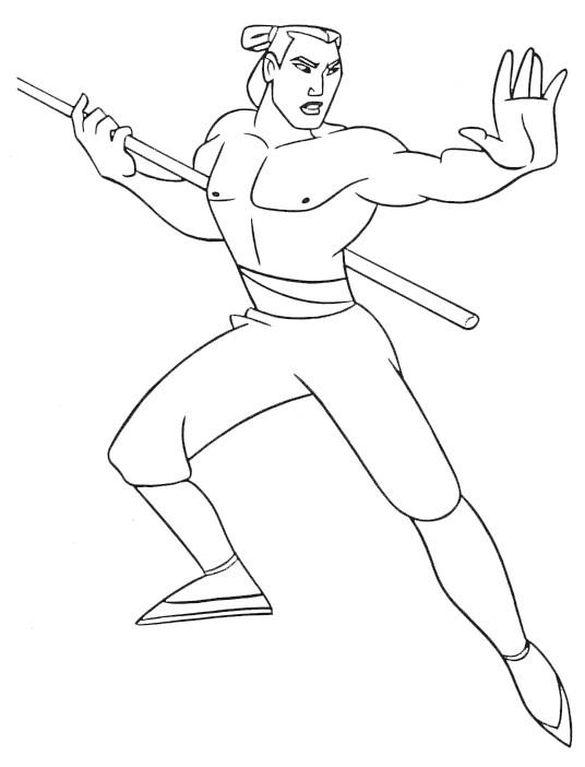 Coloriage et dessins gratuits Général Shang s'entraine à imprimer