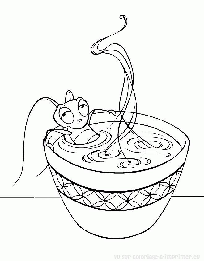 Coloriage et dessins gratuits Le cricket de Mulan à imprimer