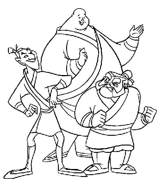Coloriage et dessins gratuits Les soldats Mulan à imprimer
