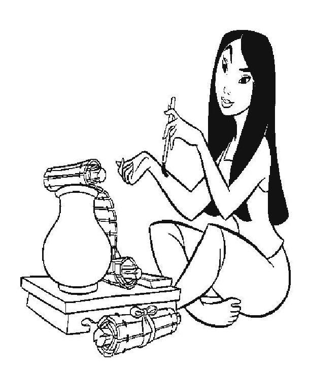 Coloriage et dessins gratuits Mulan 27 à imprimer