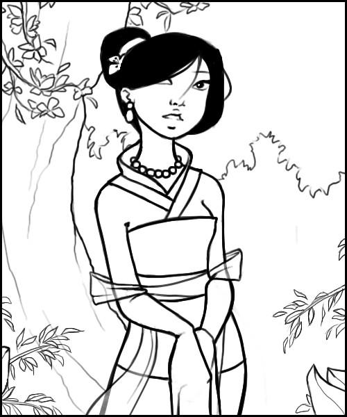 Coloriage et dessins gratuits Mulan 32 à imprimer