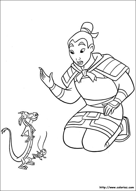 Coloriage et dessins gratuits Mulan et ses amis à imprimer