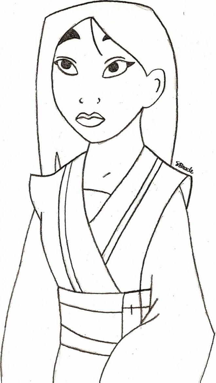 Coloriage Mulan facile à colorier dessin gratuit à imprimer