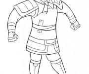 Coloriage et dessins gratuit Mulan porte une armure à imprimer