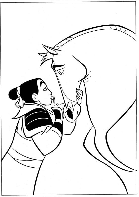 Coloriage et dessins gratuits Mulan Walt Disney à imprimer
