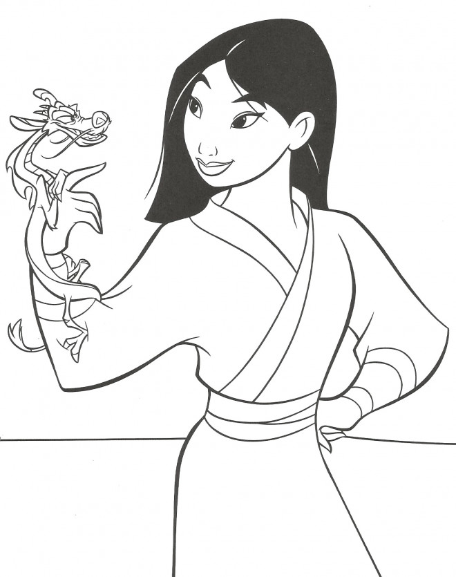 Coloriage Mushu Et Mulan Disney Dessin Gratuit 224 Imprimer
