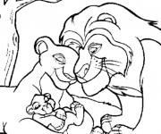 Coloriage dessin  La famille de Nala