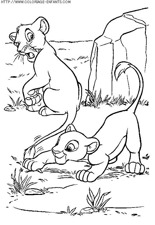 Coloriage et dessins gratuits Les Lionceaux à imprimer