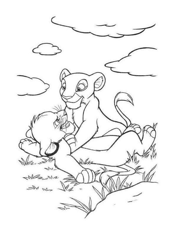 Coloriage et dessins gratuits Les petits lion disney walt à imprimer