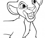 Coloriage Lionceau simple