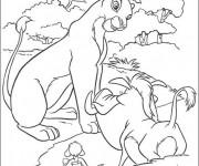 Coloriage dessin  Nala et Pumbaa