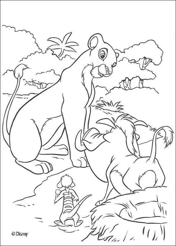 Coloriage et dessins gratuits Nala et Pumbaa à imprimer