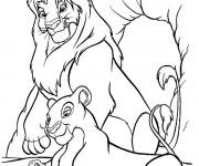 Coloriage Nala et Simba
