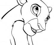 Coloriage dessin  Nala facile